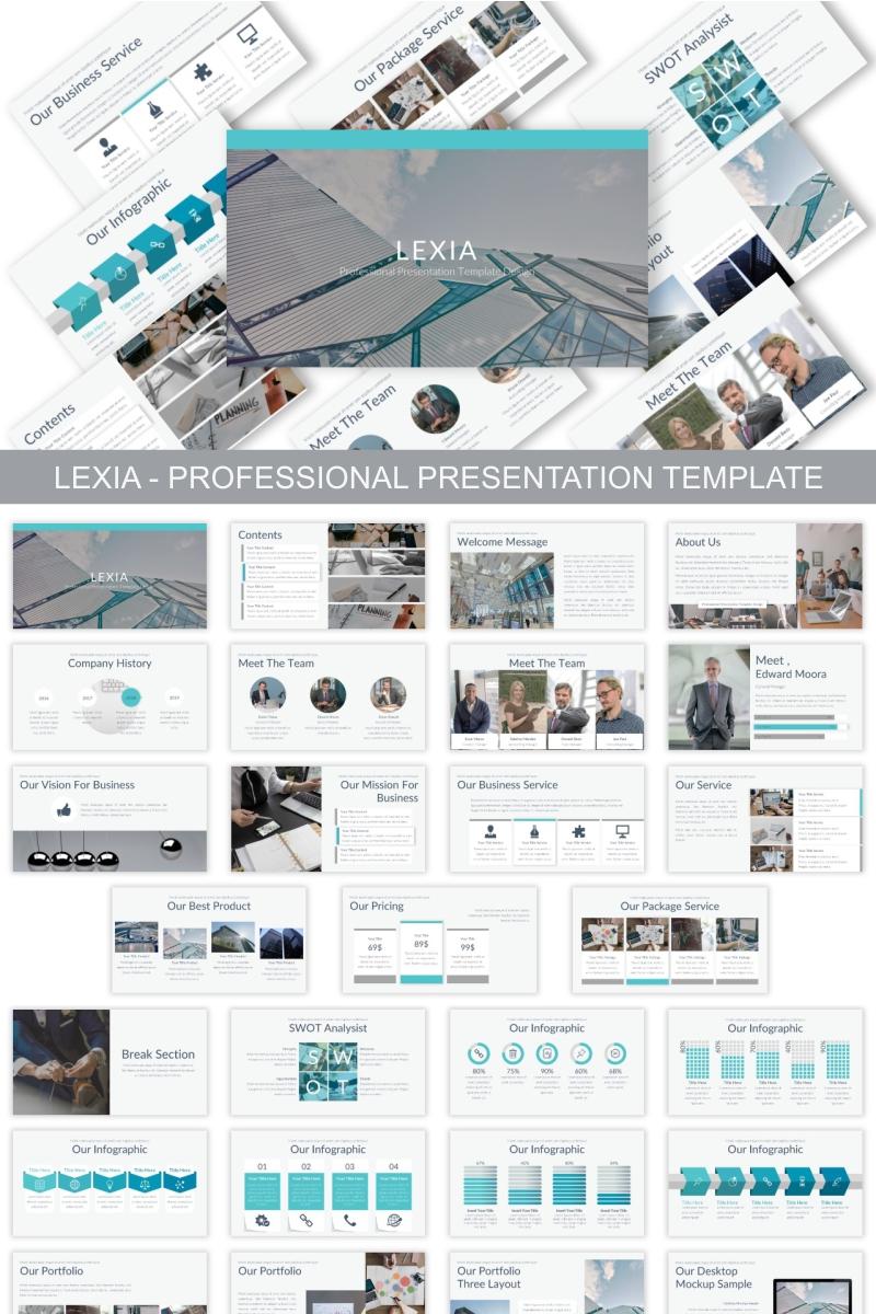 """Lexia - Professional"" Keynote Template №90621"