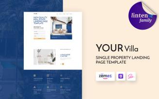 Lintense Real Estate - Single Property Landing Page Template
