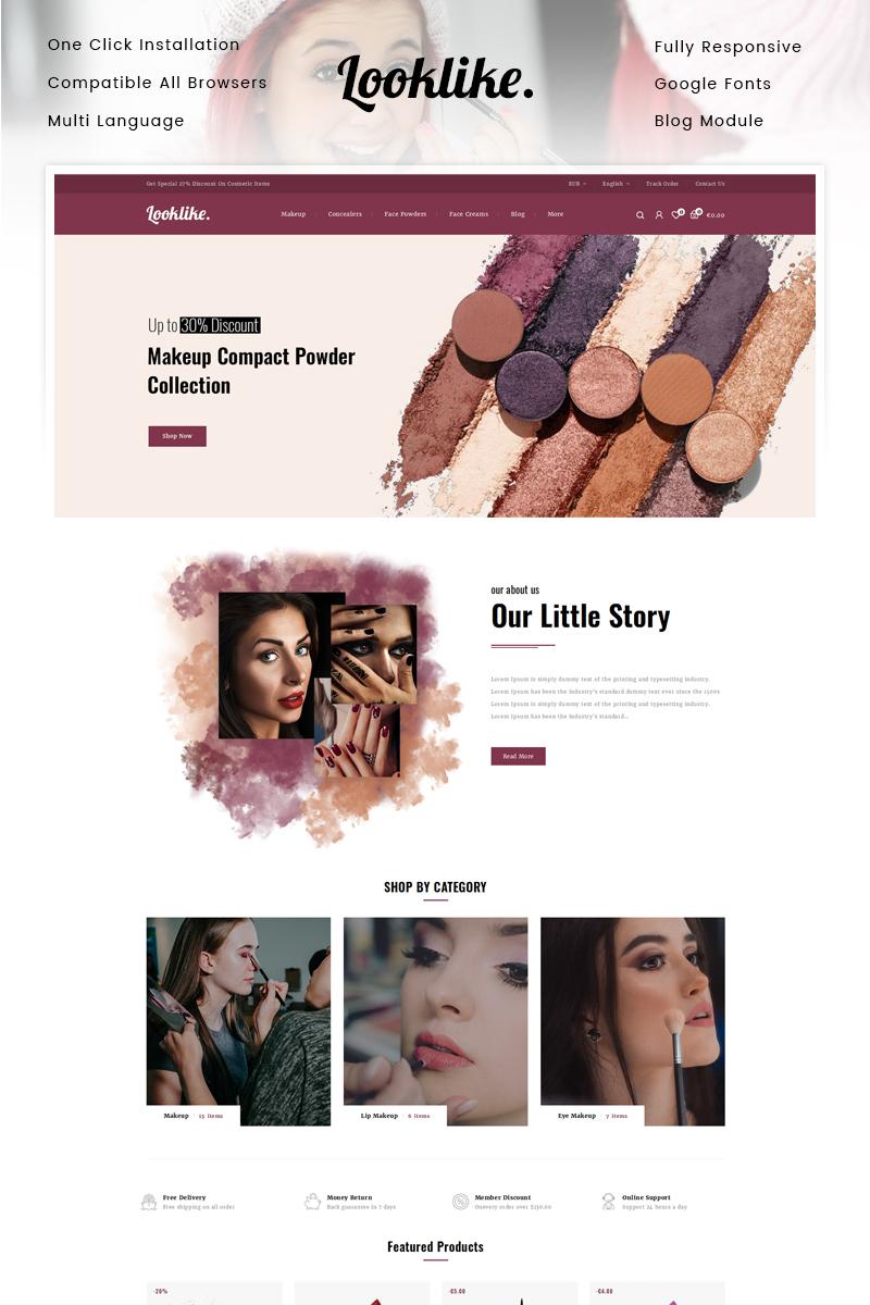 """""""Looklike - Cosmetic Store"""" 响应式PrestaShop模板 #90629 - 截图"""