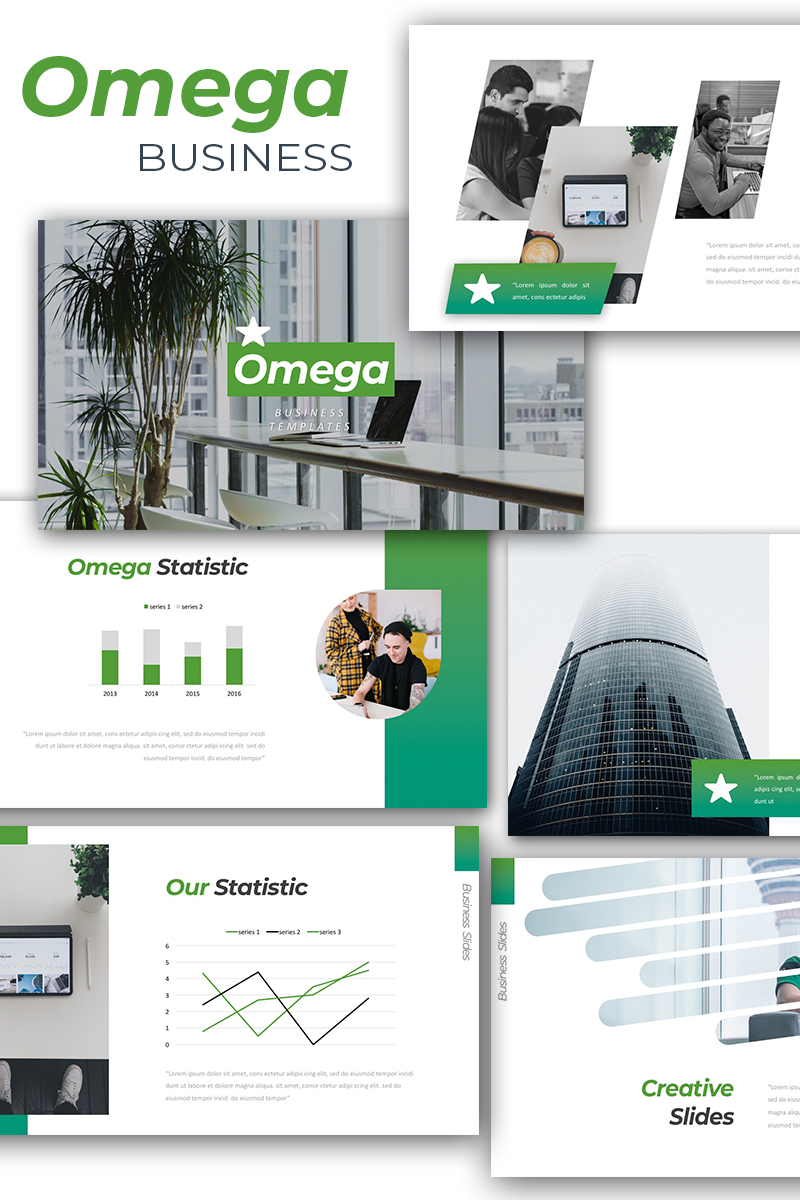 "Modello Google Slides Responsive #90620 ""Omega - Business"""