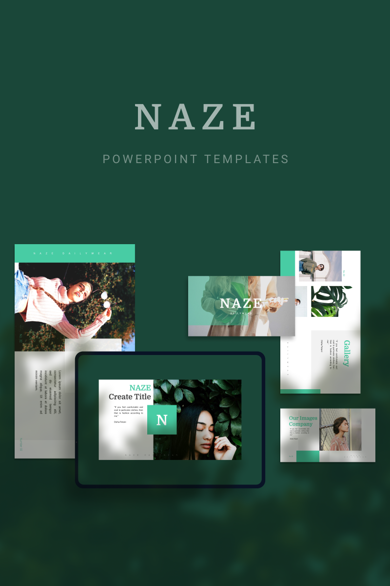 """NAZE"" PowerPoint Template №90691"