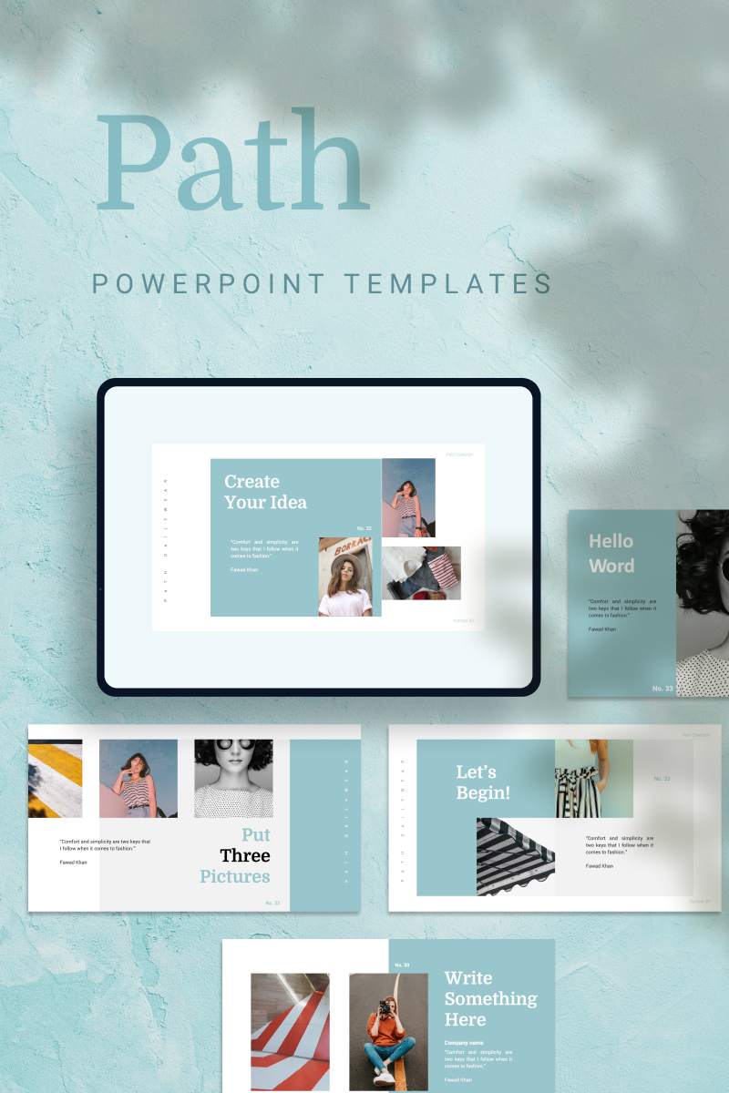 """""""PATH -"""" PowerPoint Template №90676"""