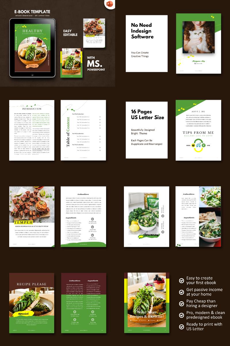 """Recipe Food Vegetarian -"" modèle PowerPoint  #90682"