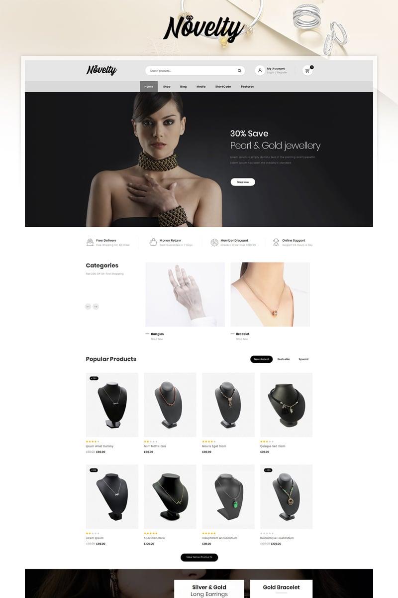 Responsywny motyw WooCommerce Novelty - Jewelry Store #90641