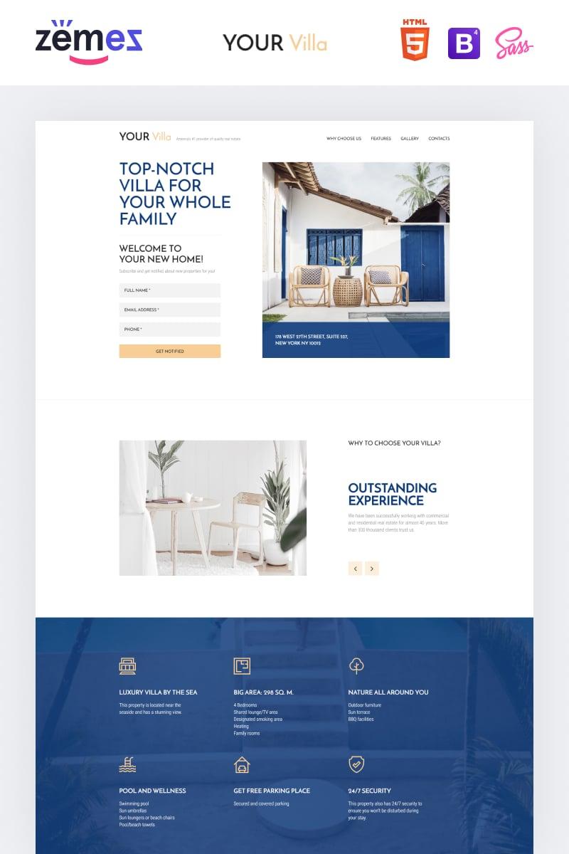 Responsywny szablon Landing Page Lintense Real Estate - Single Property #90645 - zrzut ekranu