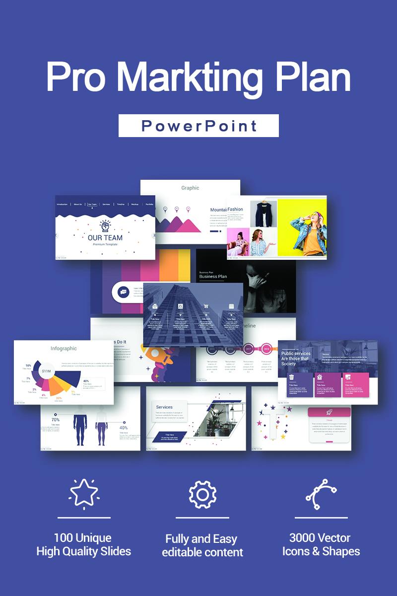 Responsywny szablon PowerPoint Pro Markting Plan #90690