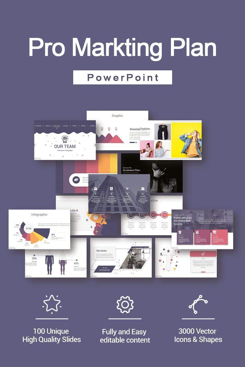 "Responzivní PowerPoint šablona ""Pro Markting Plan"" #90690"