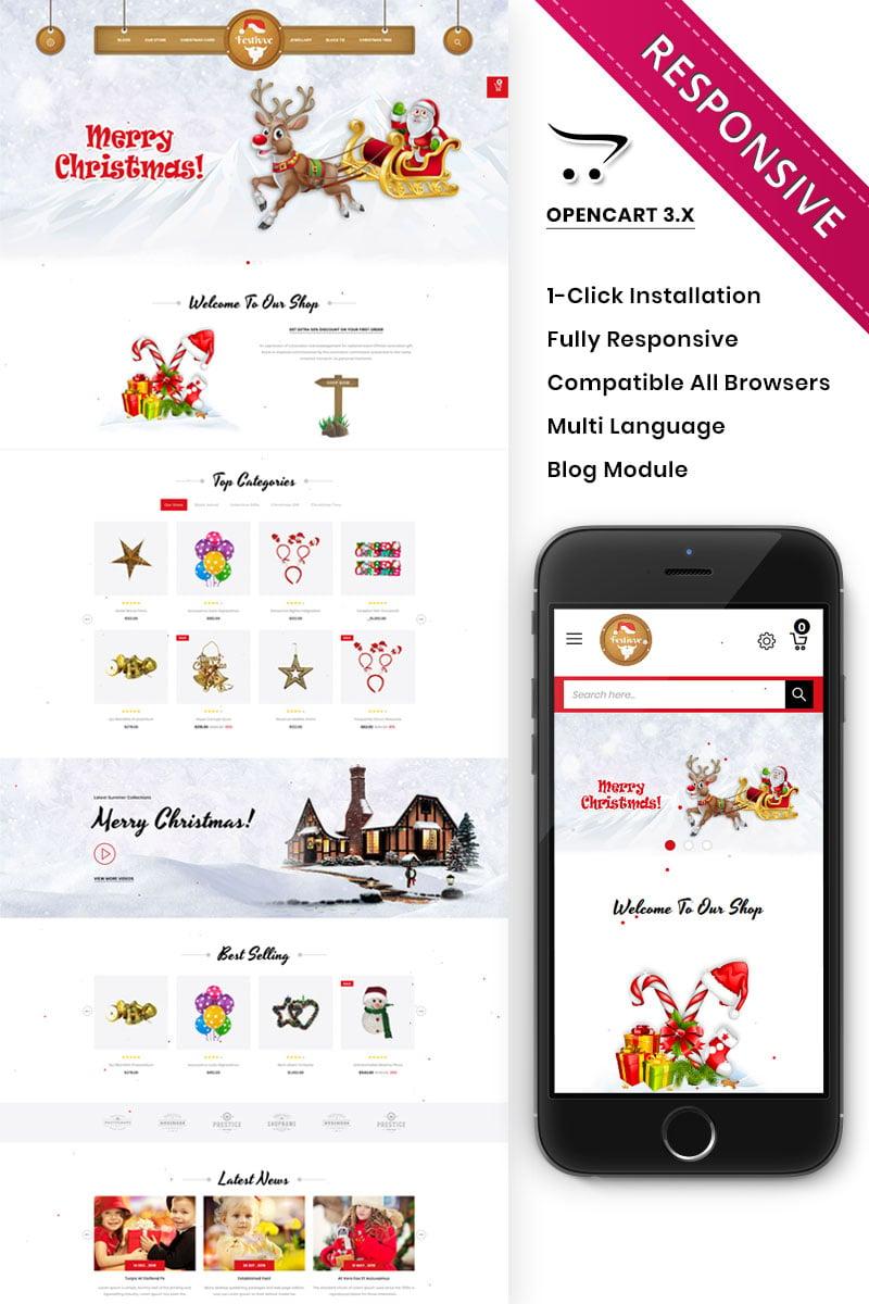Reszponzív Festivve - OpenCart sablon 90628