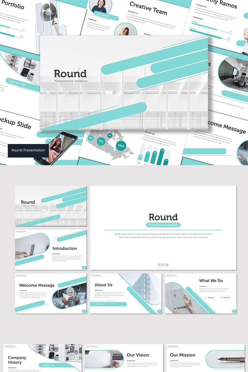 Round PowerPoint sablon 90603 - képernyőkép