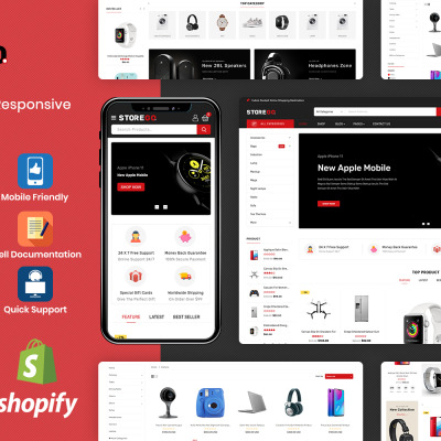 StoreGo - Multipurpose Premium Electronic Shopify Theme #90638