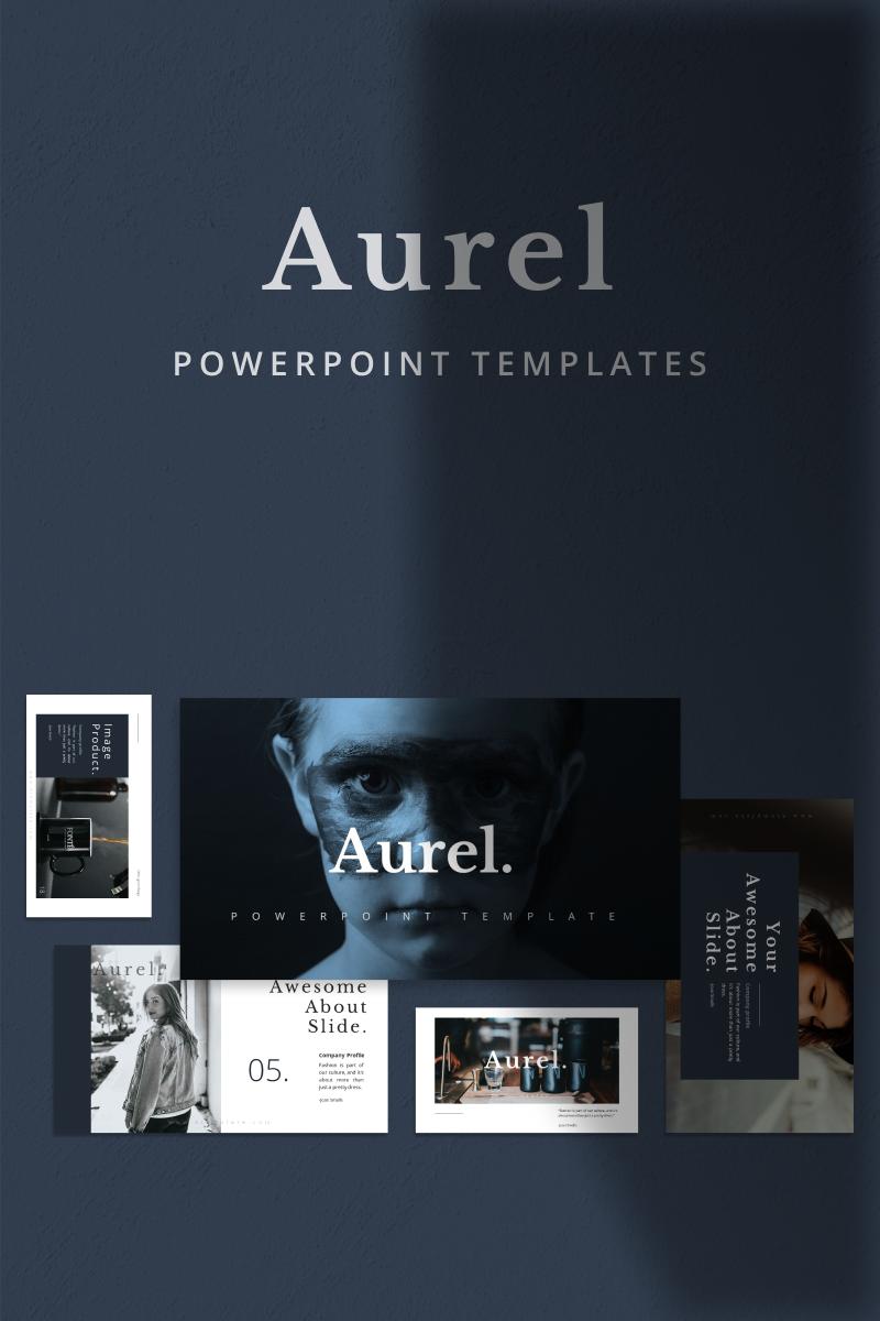 """Tema PowerPoint #90672 """"AUREL -"""""""