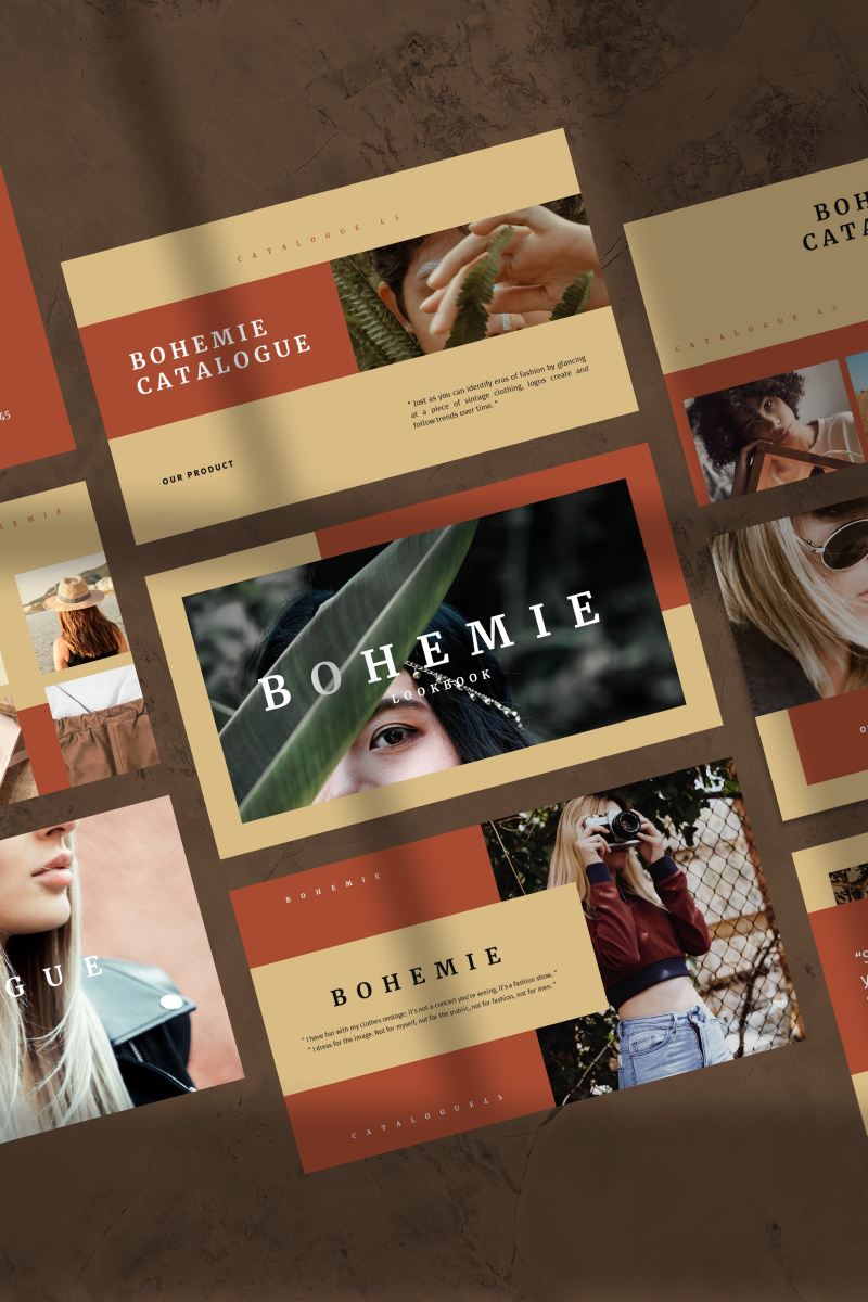 "Template Google Slides #90631 ""BOHEMIE -"""