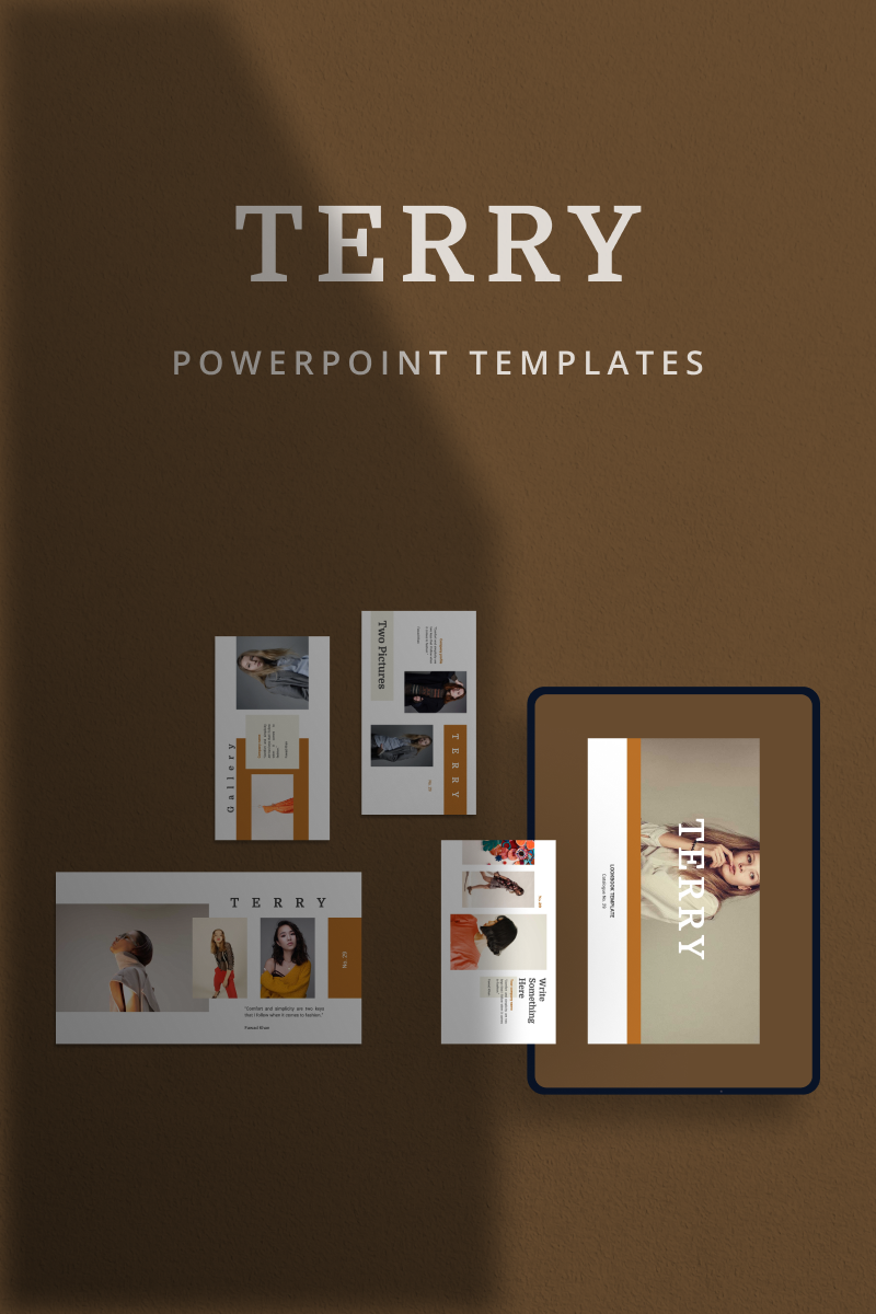 """""""TERRY -"""" PowerPoint Template №90674"""