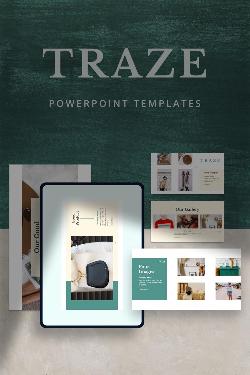 """TRAZE -"" modèle PowerPoint  #90675"