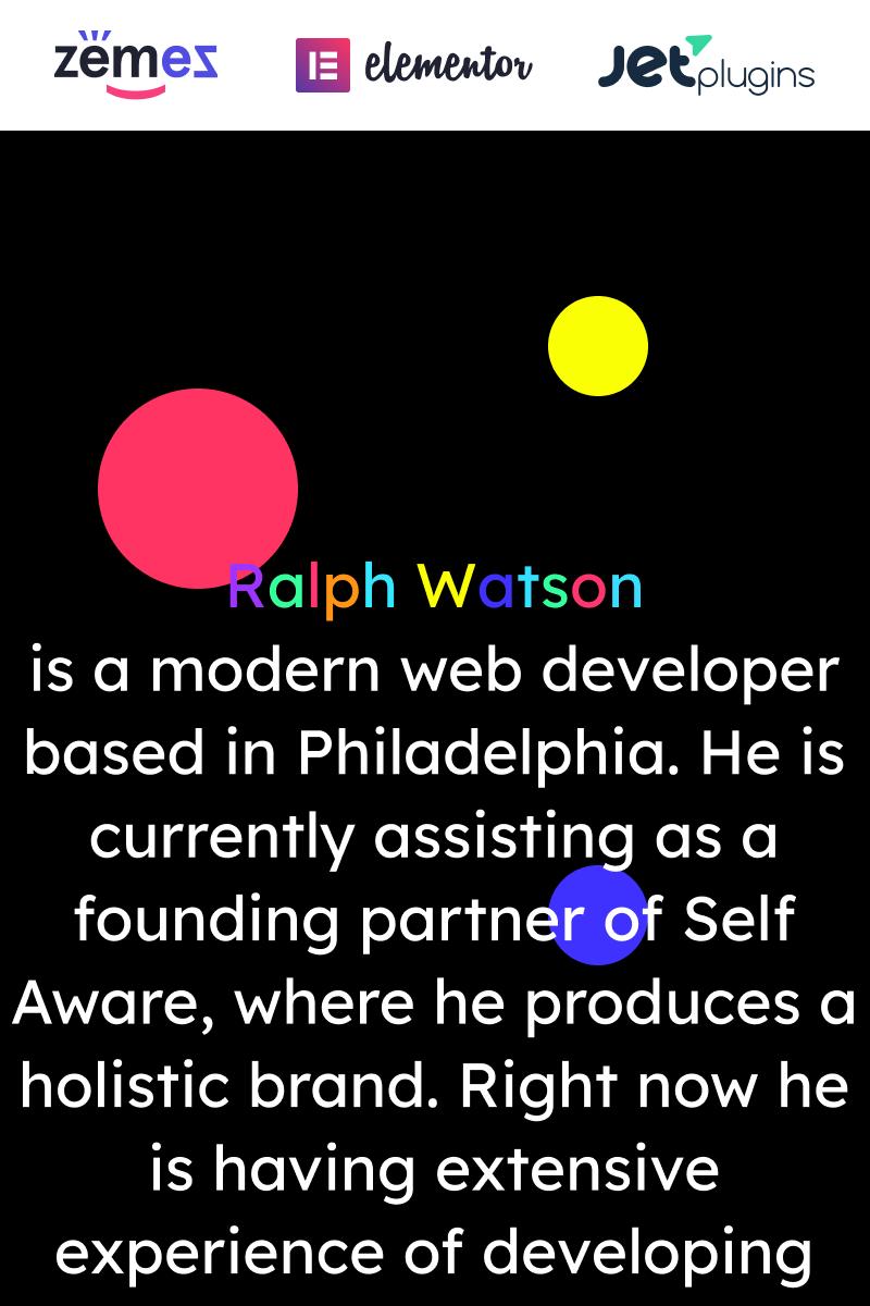 """Web Portfolio - Minimalistic Web Developer Portfolio Template"" Responsive WordPress thema №90669"