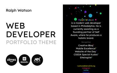 Web Portfolio - Minimalistic Web Developer Portfolio Template