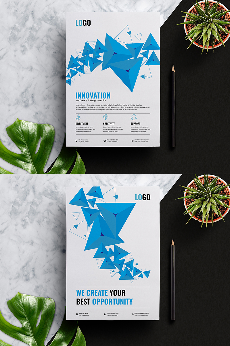 """""""Abstract Business Flyer"""" 企业设计模板 #90776"""