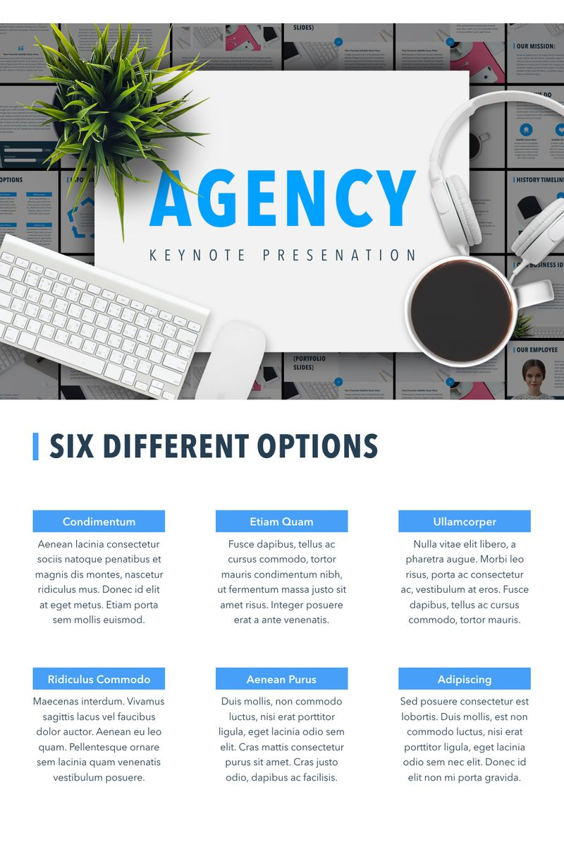 """Agency Showcase"" Keynote Template №90735"