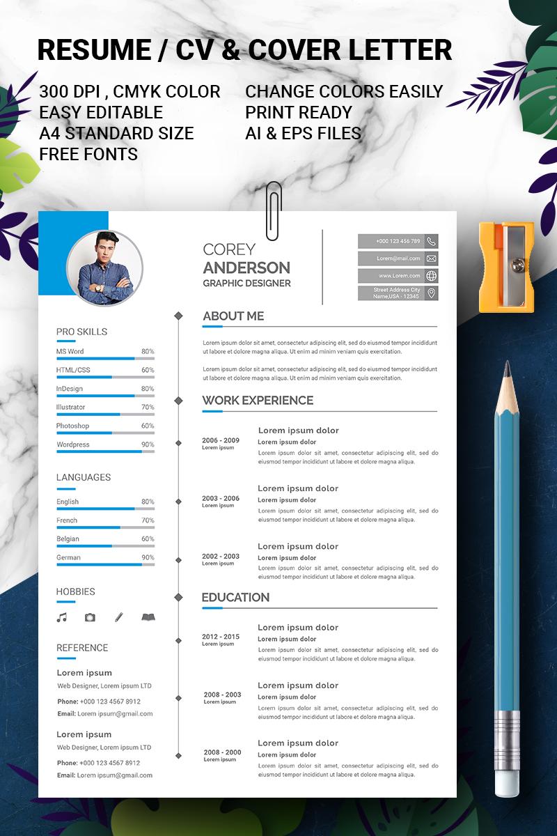 """Anderson - Graphic Designer"" CV Template №90719"