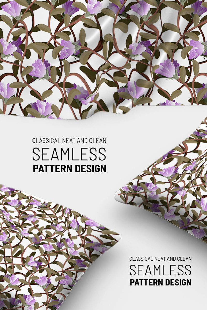 Awesome abstract floral classical repeat design Pattern №90788