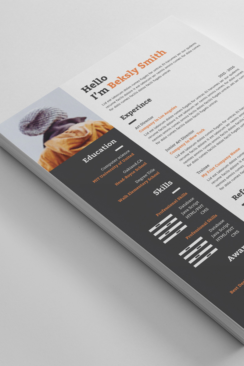 """Beksly Smith Word"" CV Template №90725"