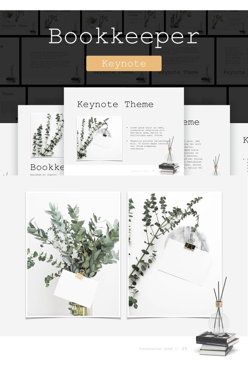 """Bookkeeper"" Keynote Template №90731"