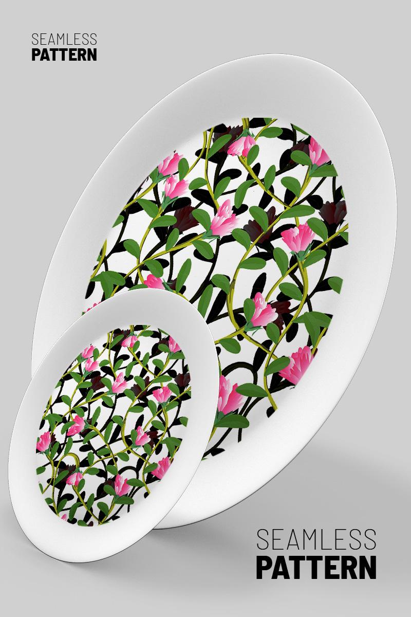 Botanical beautiful hand drawn floral repeat Pattern #90787