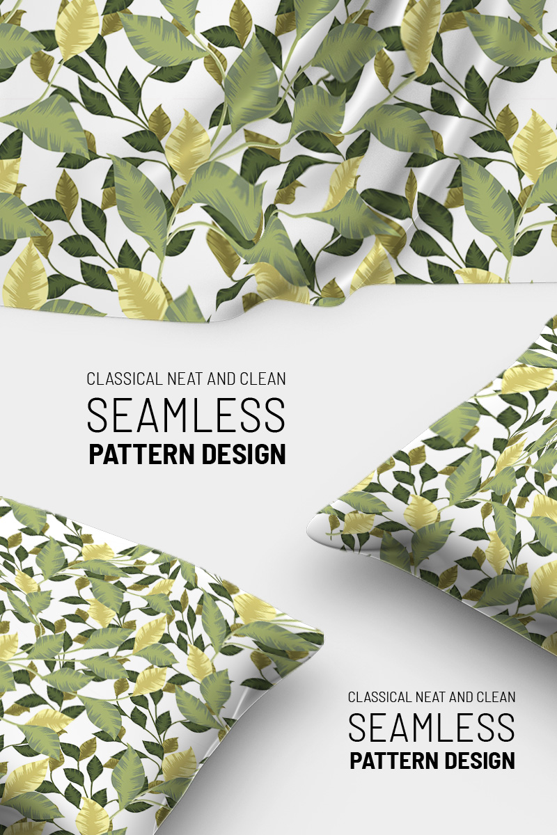 Botanical seamless elegant design Pattern №90797