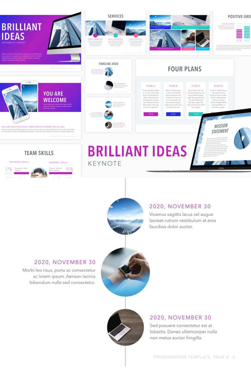 """Brilliant Ideas"" Keynote Template №90729"