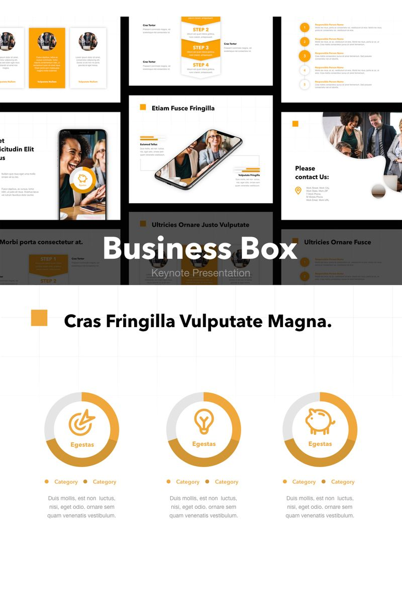 """Business Box"" Keynote Template №90728"