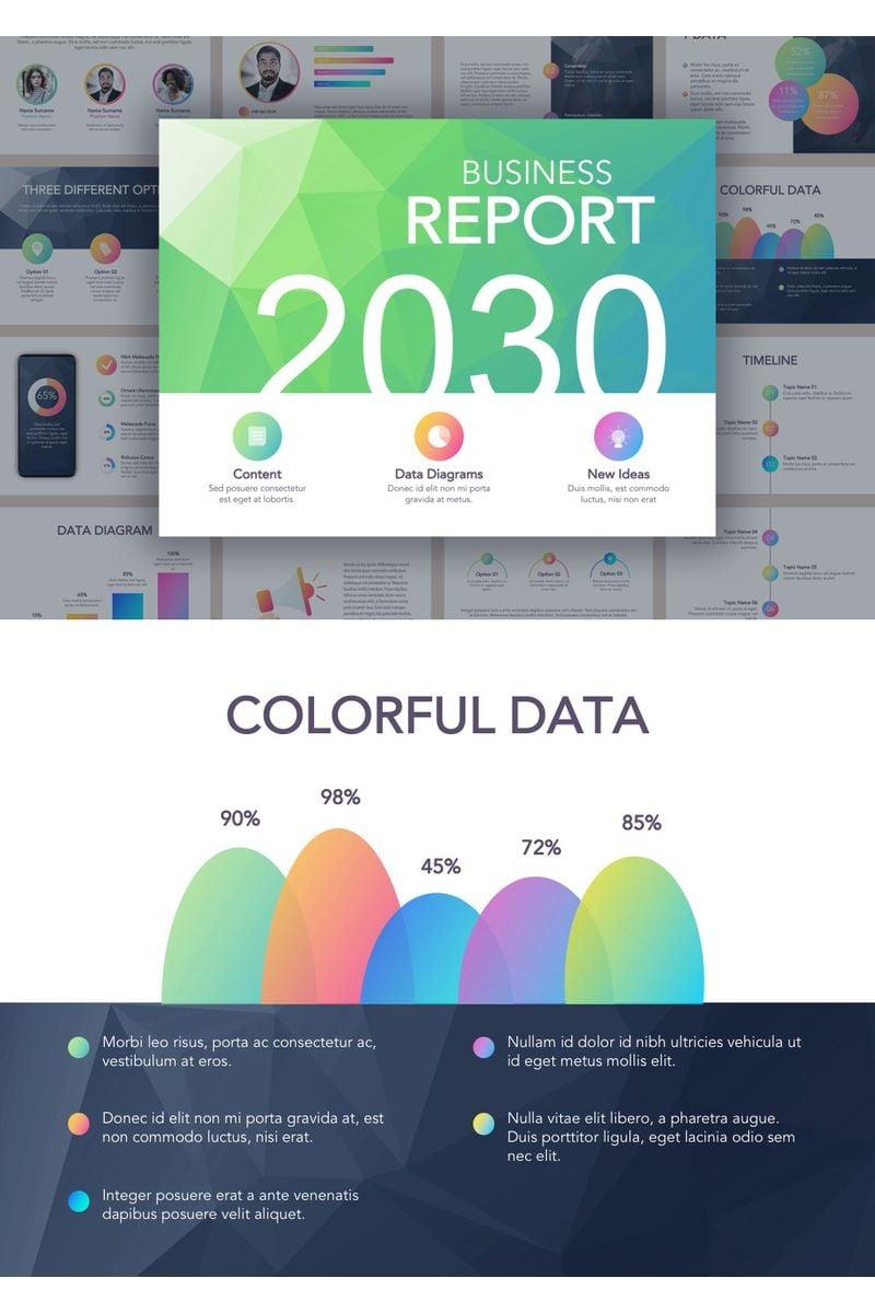 """Business Report Colorite"" Google Slides №90737"