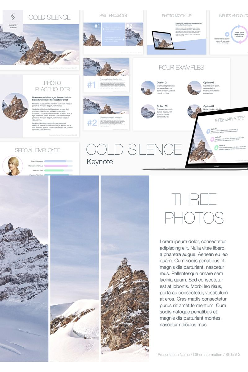 """Cold Silence"" Keynote Template №90726"