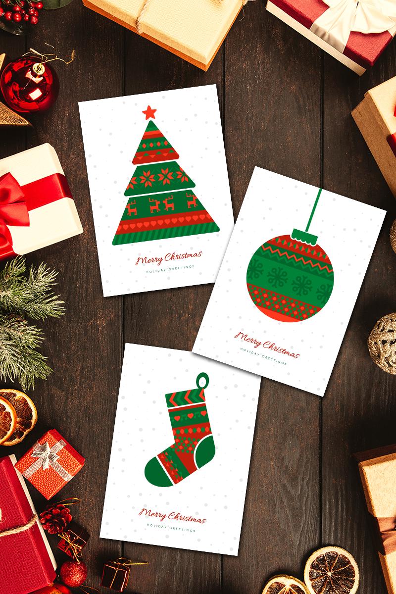"Ilustración ""Norwegian Christmas Greeting Cards Set"" #90700"