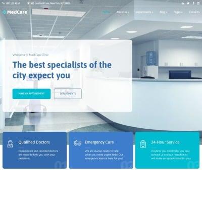 MedCare - Healthcare Clinic Website Template #90757