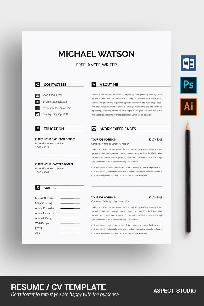 """""""Michael Watson"""" modèle de CV  #90715"""