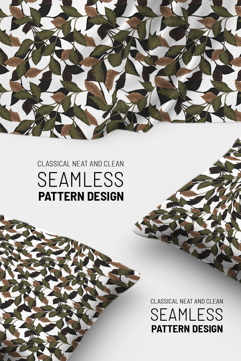 """Pattern namens """"Retro classical style hand drawn floral beautiful seamless design"""" #90795"""