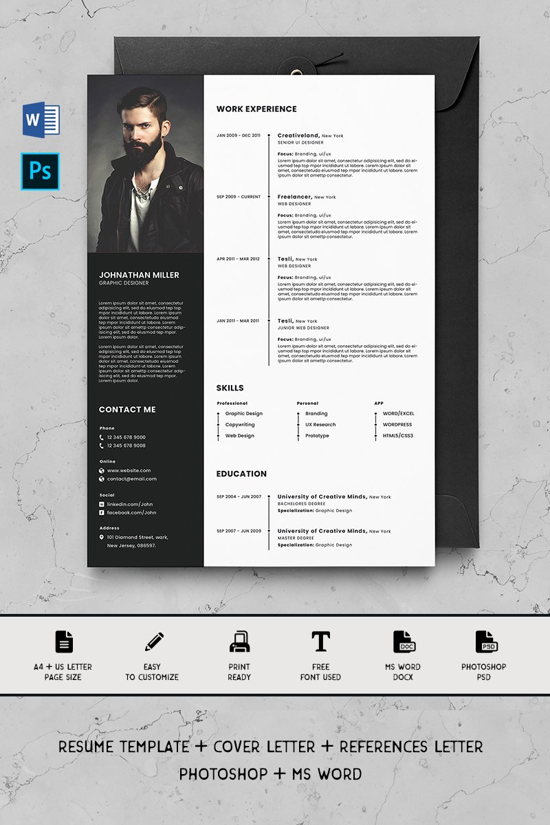 Premium Alex Resume Template #90721