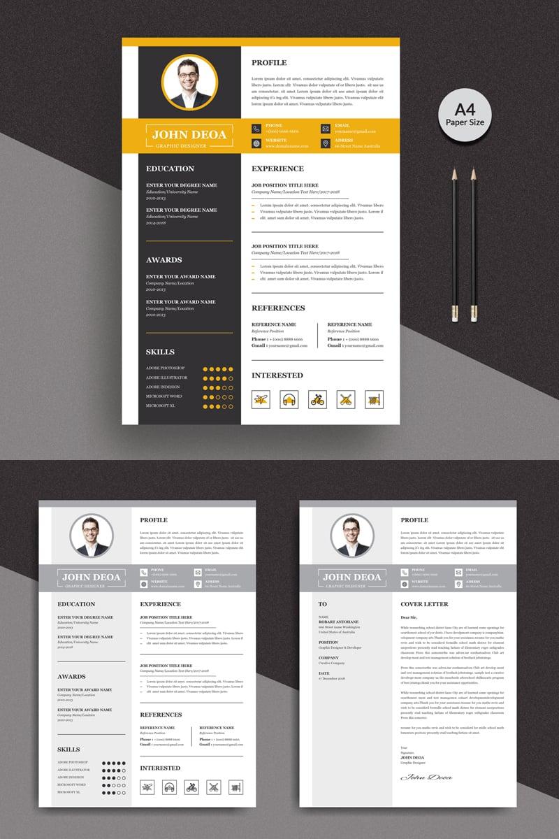 Premium Doea Modern Resume Template #90722 - skärmbild