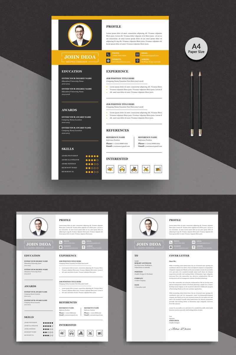 Premium Doea Modern Resume Template #90722