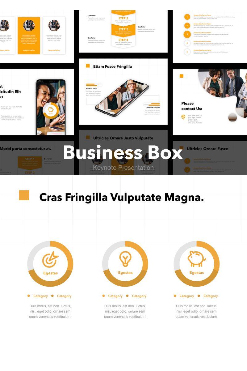 "Šablona pro Keynote ""Business Box"" #90728"