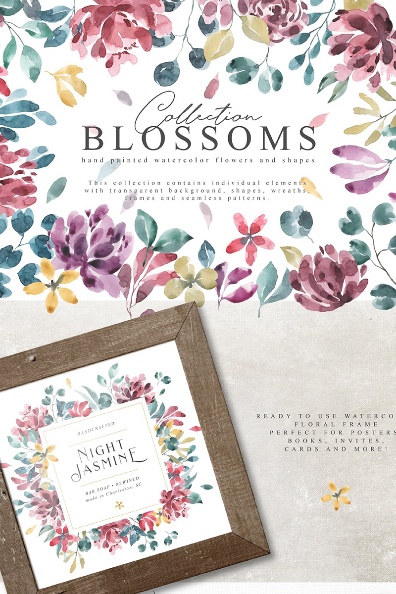 "Tema Illustrazione #90702 ""Blossoms Collection"""