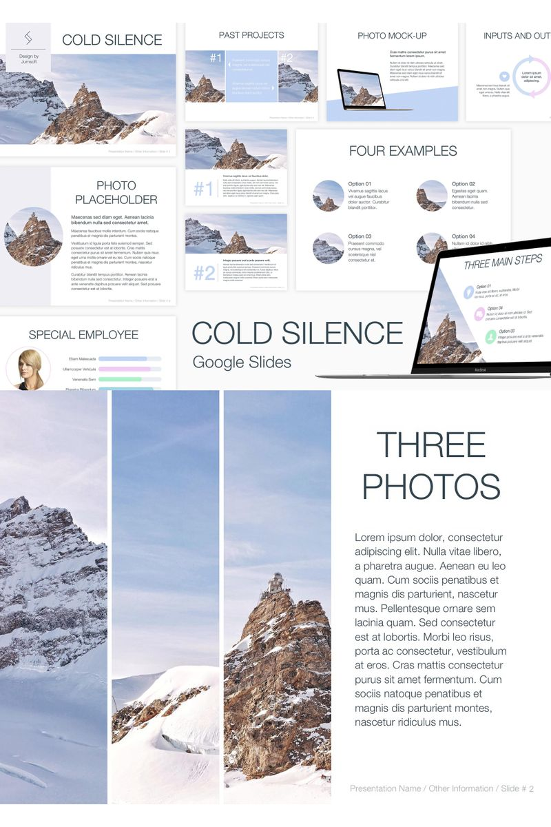 "Template Google Slides #90736 ""Cold Silence"""