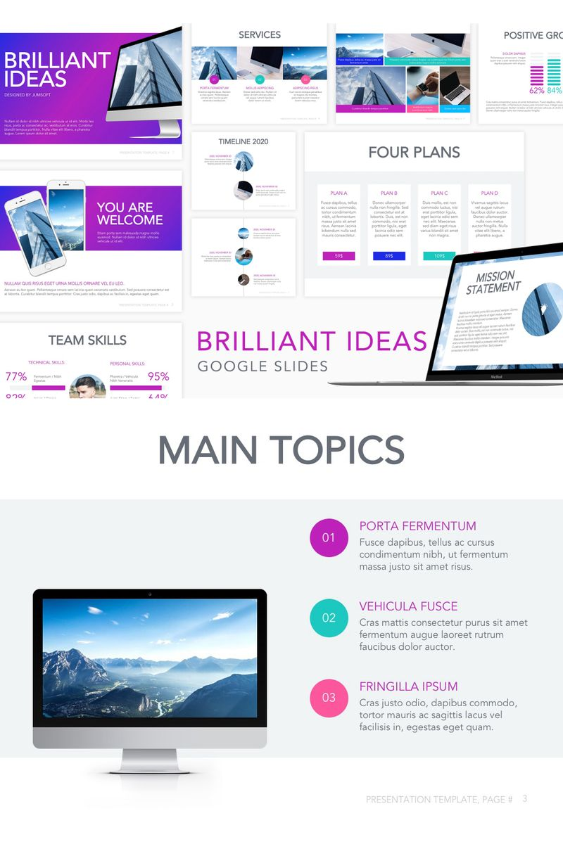 "Template Google Slides #90739 ""Brilliant Ideas"""
