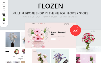 Flozen | Multi-Purpose Flower Store Shopify Theme