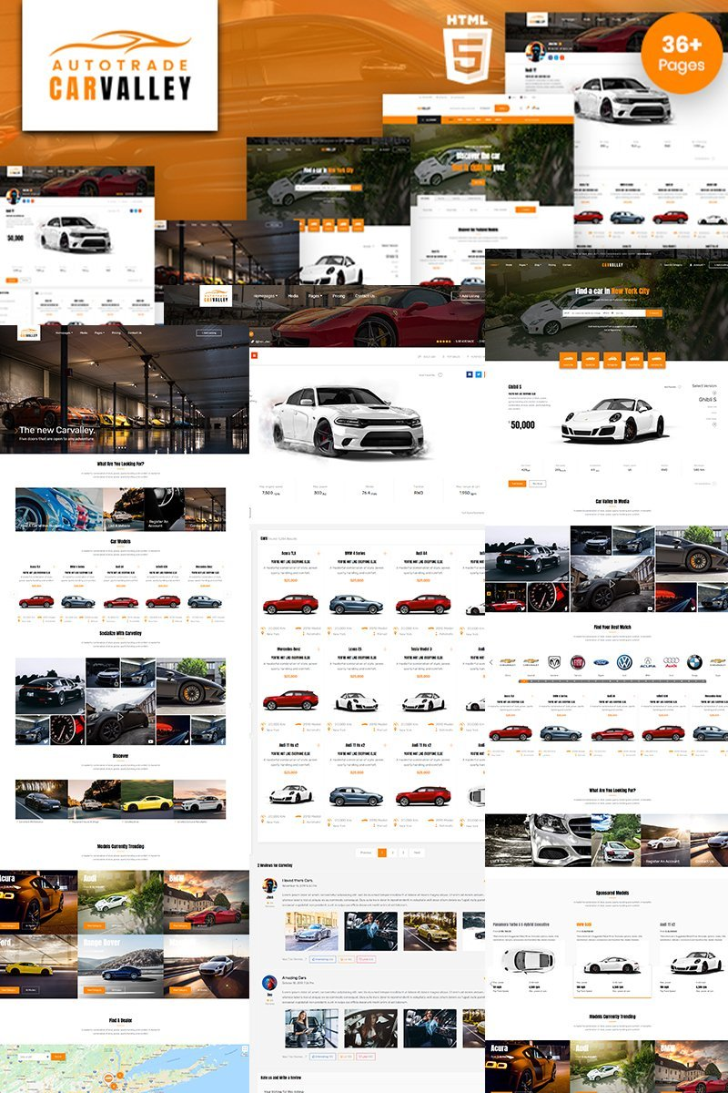 Responsywny szablon strony www Carvalley   Auto Market HTML5 #90821
