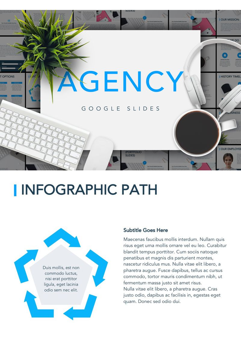 "Template Google Slides #90844 ""Agency Showcase"""