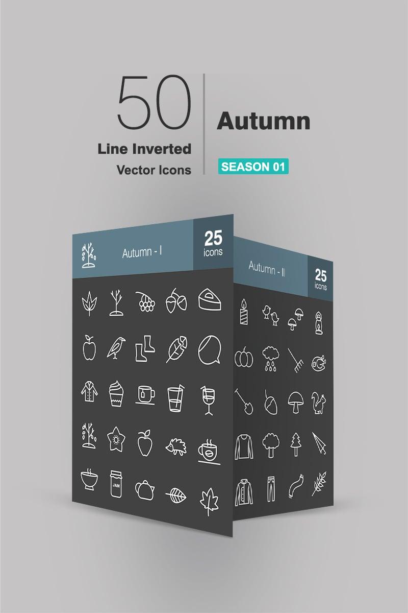 50 Autumn Line Inverted Iconset #90938