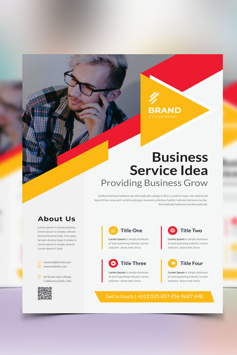 """Brand & Creative Flyer Vol_19"" 企业设计模板 #90924"