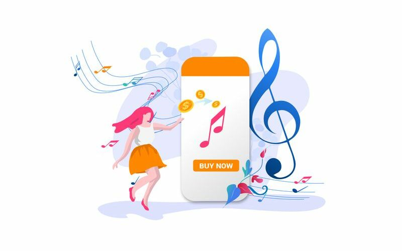 Buy music Illustration