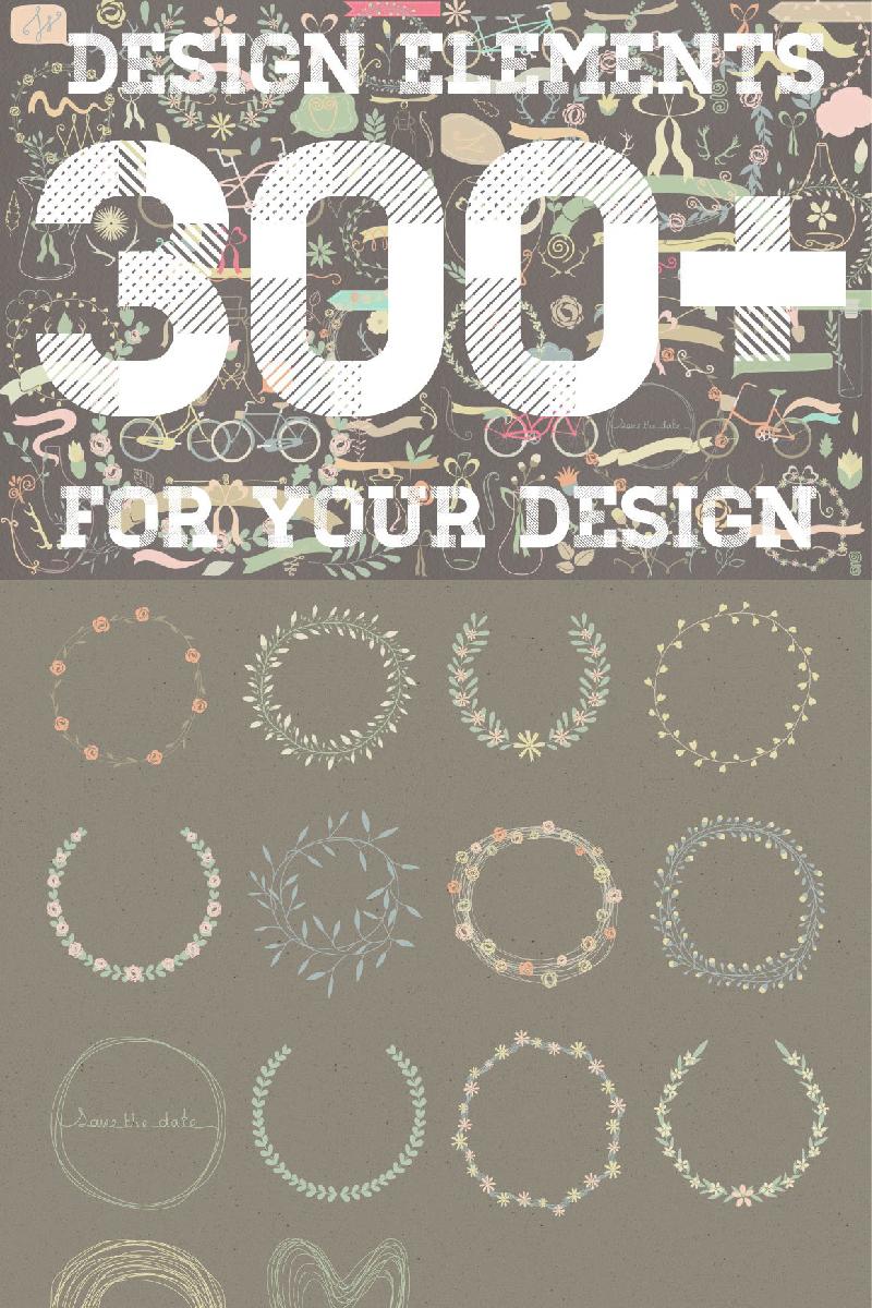 300+ Design Elements Illustration #90972